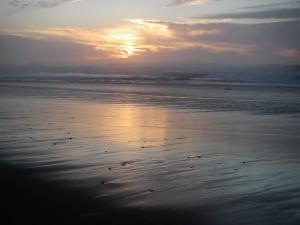 sunset on Irish Beach
