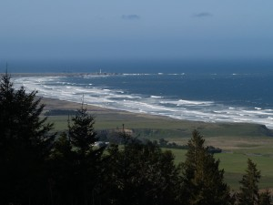 View towards Point Arena Lighthouse.